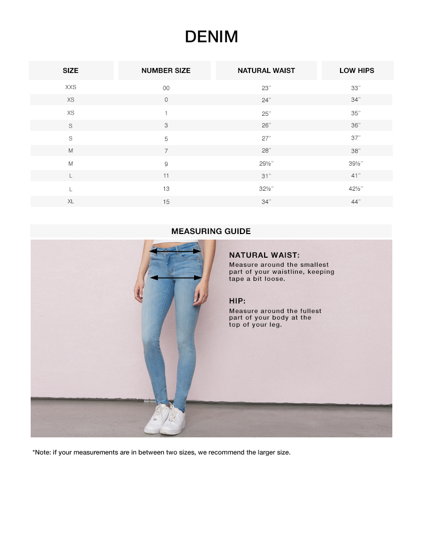 Garage pants size chart home desain 2018 for Size garage